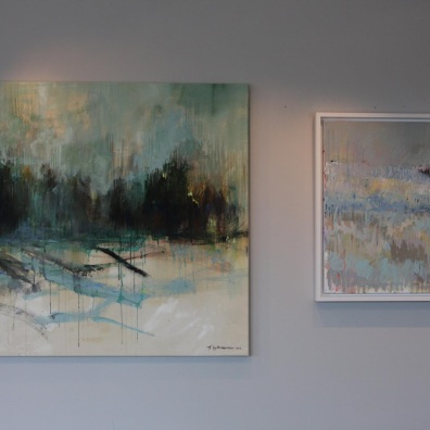 Turid Gyllenhammar - left: Woods II 140x120cm, right: white forrest 100x100cm - for sale
