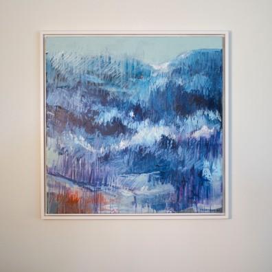 Turid Gyllenhammar - Blå skog. 2011. 100x100cm (pris på forespørsel)