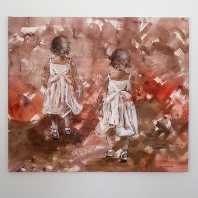 Turid Gyllenhammar - Barn i blomsterhagen 140x120 (for sale)